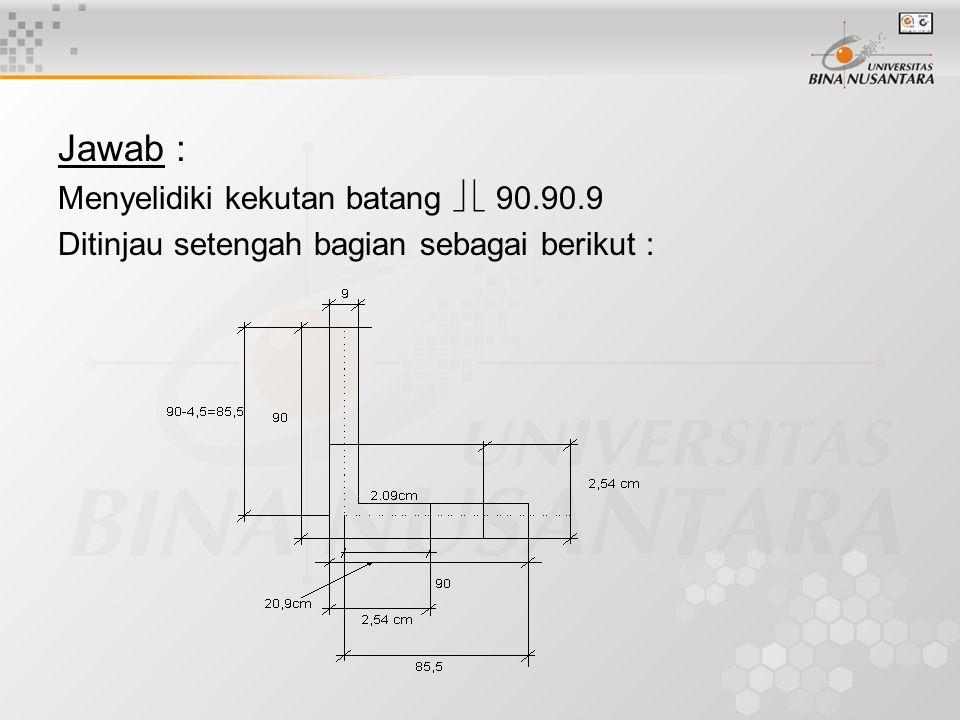 Jawab : Menyelidiki kekutan batang   90.90.9
