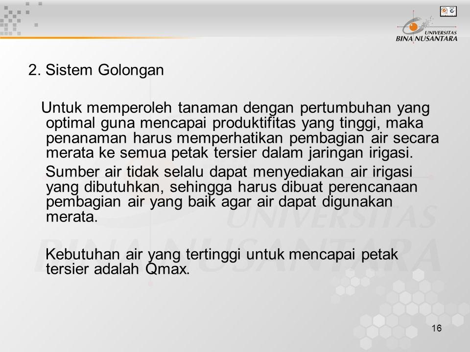 2. Sistem Golongan