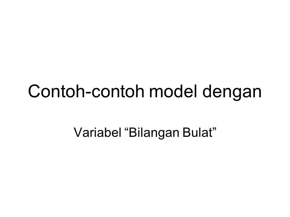Contoh-contoh model dengan