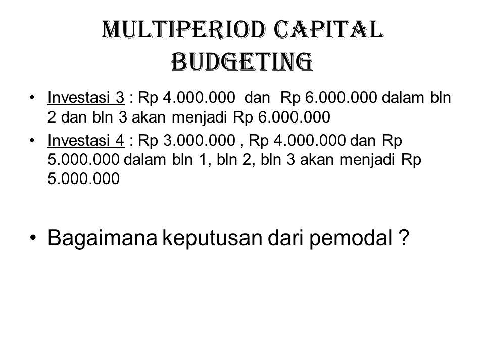 Multiperiod Capital Budgeting