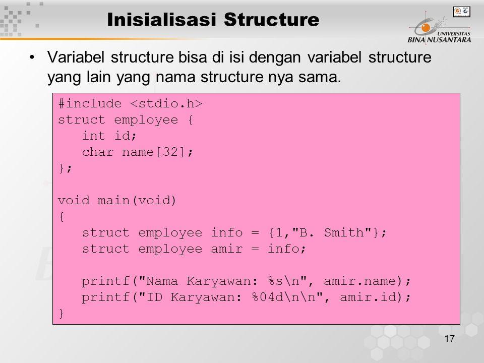 Inisialisasi Structure