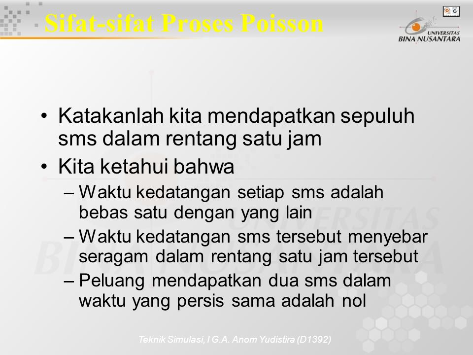 Sifat-sifat Proses Poisson