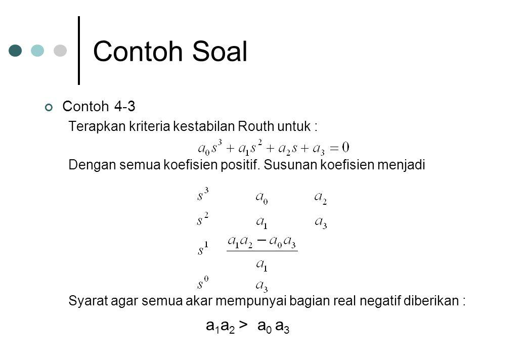 Contoh Soal a1a2 > a0 a3 Contoh 4-3