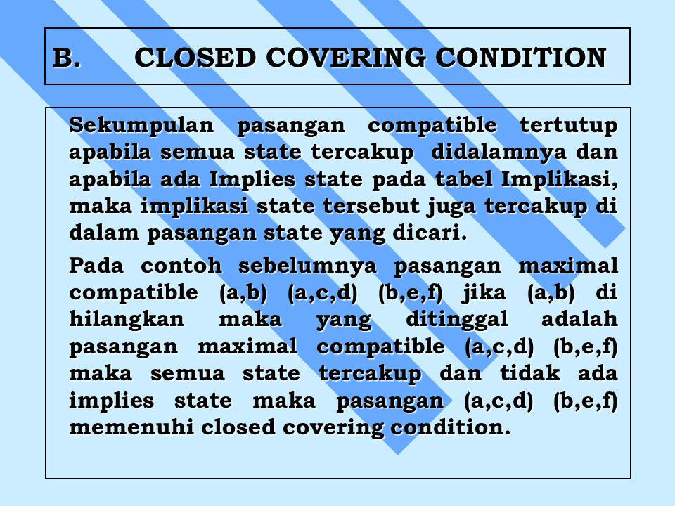 B. CLOSED COVERING CONDITION
