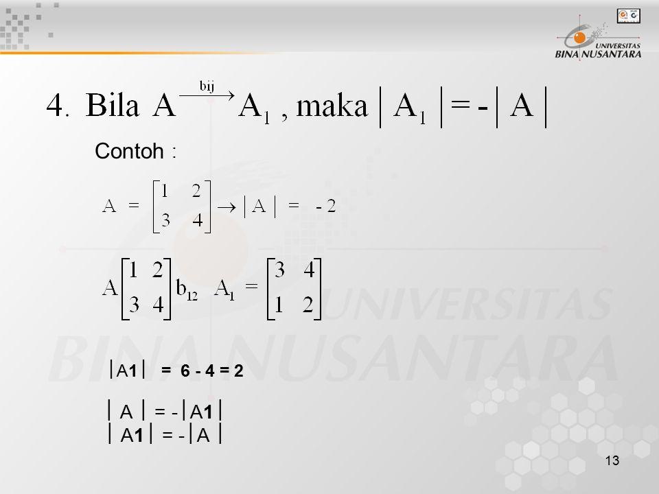 Contoh : A1 = 6 - 4 = 2  A  = -A1  A1 = -A 