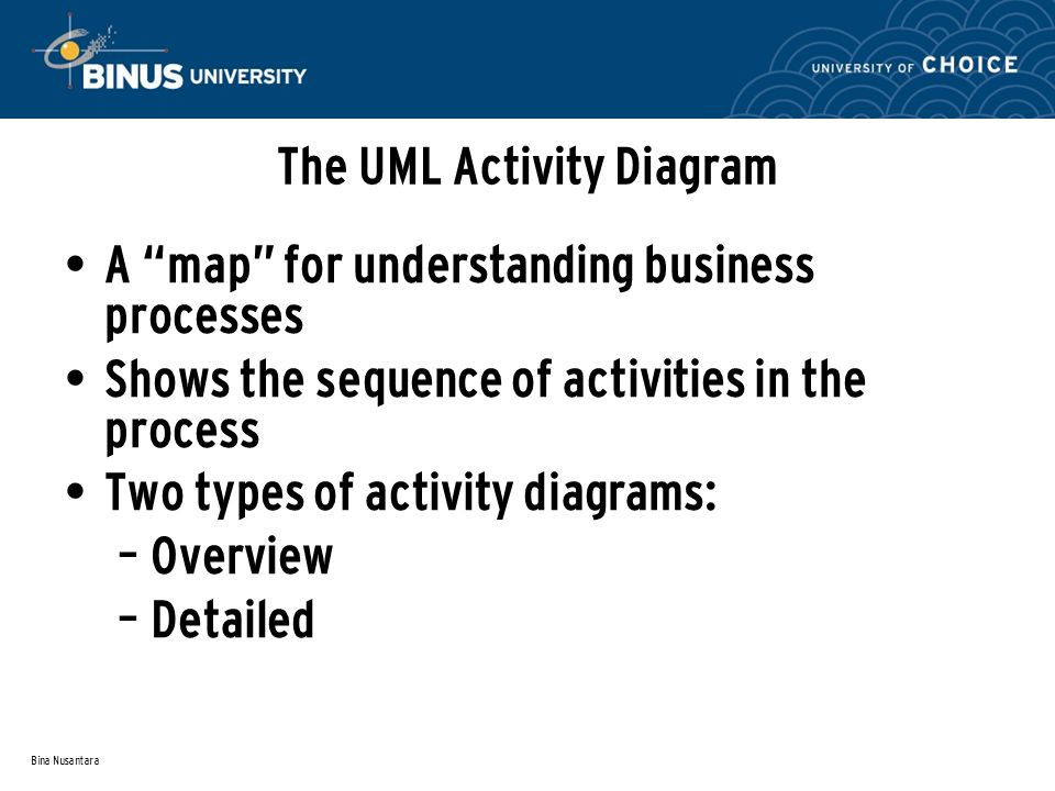 The UML Activity Diagram