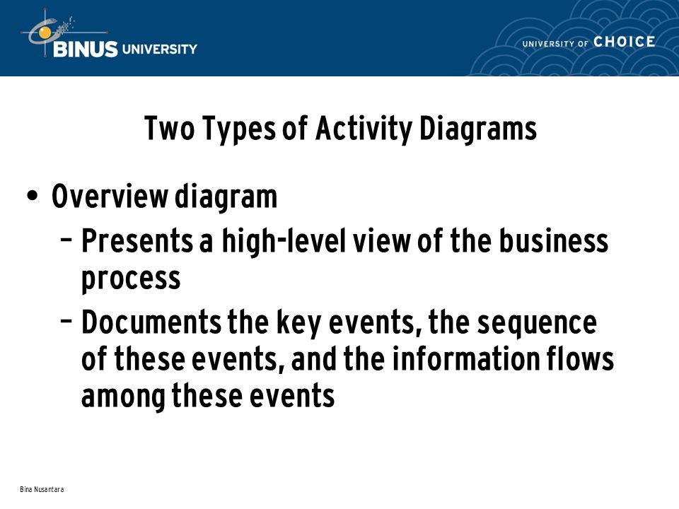 Two Types of Activity Diagrams
