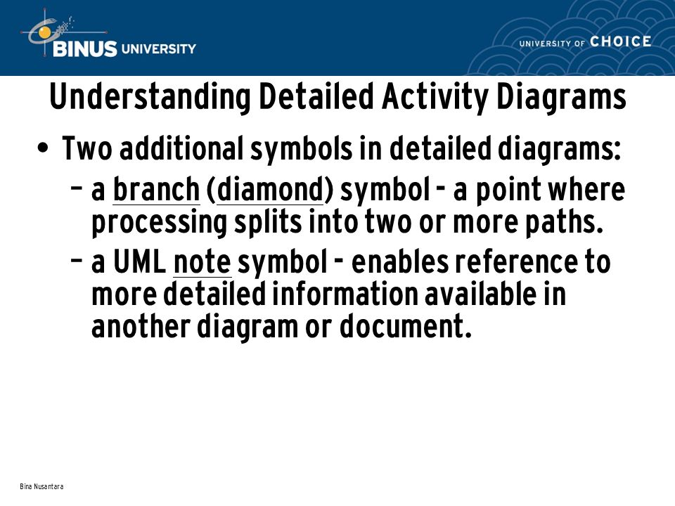 Understanding Detailed Activity Diagrams