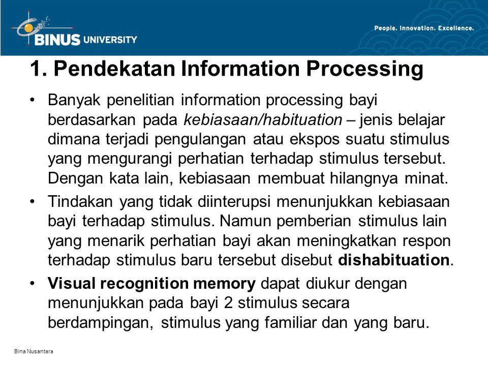 1. Pendekatan Information Processing