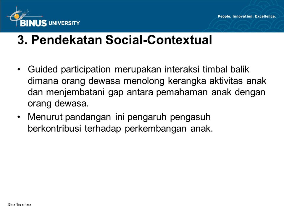 3. Pendekatan Social-Contextual