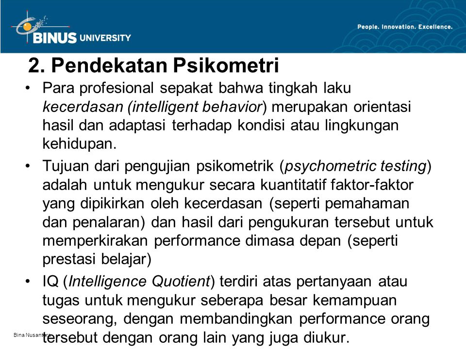 2. Pendekatan Psikometri