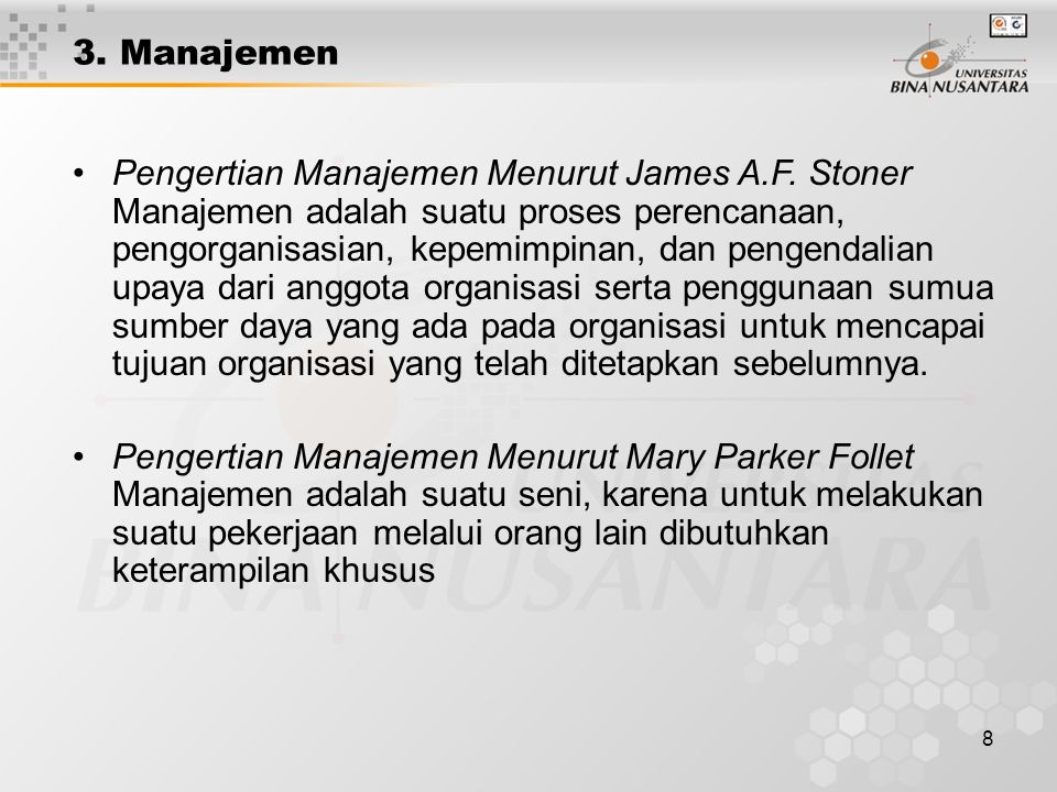 3. Manajemen