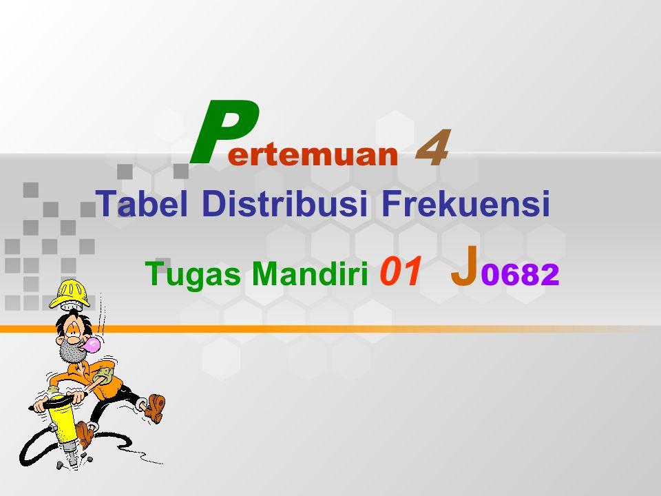 Tabel Distribusi Frekuensi Tugas Mandiri 01 J0682