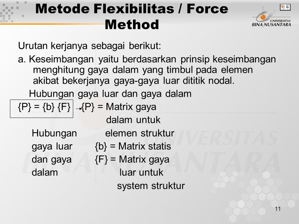 Metode Flexibilitas / Force Method