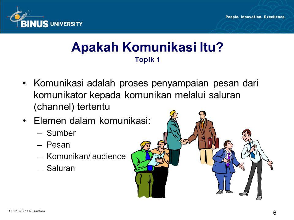 Apakah Komunikasi Itu Topik 1