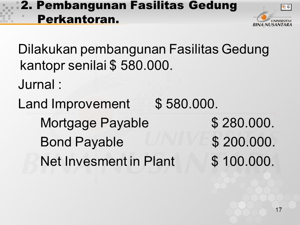 2. Pembangunan Fasilitas Gedung Perkantoran.