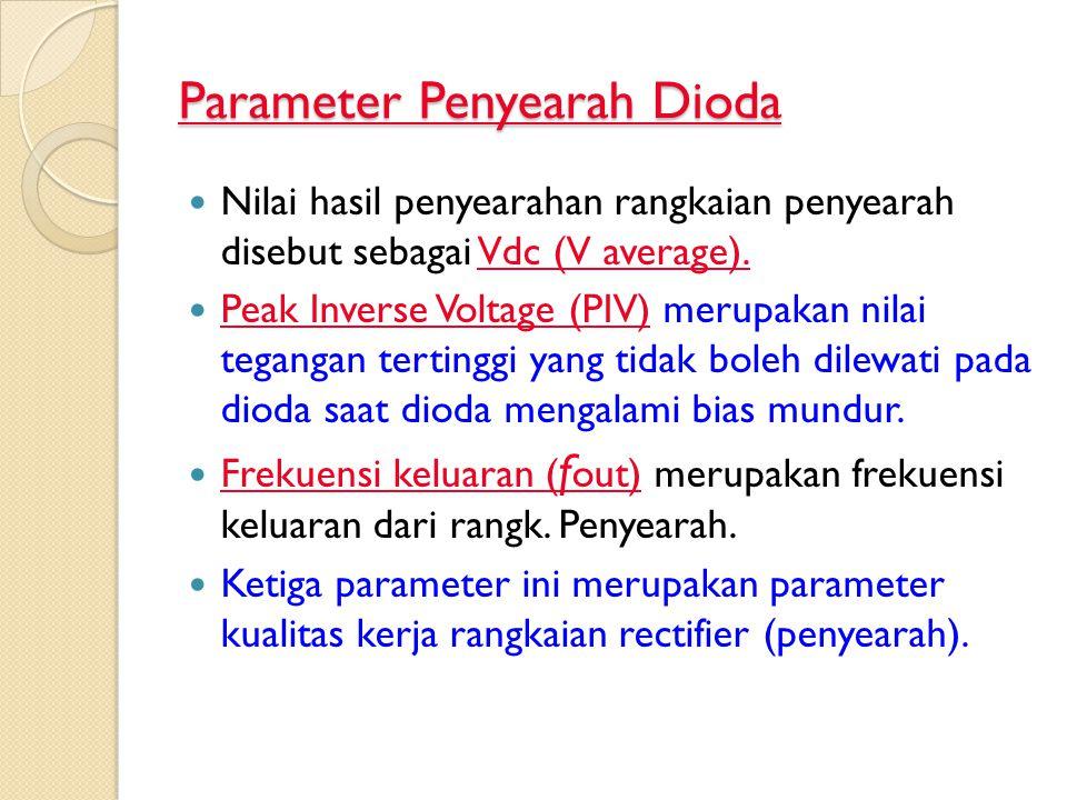 Parameter Penyearah Dioda