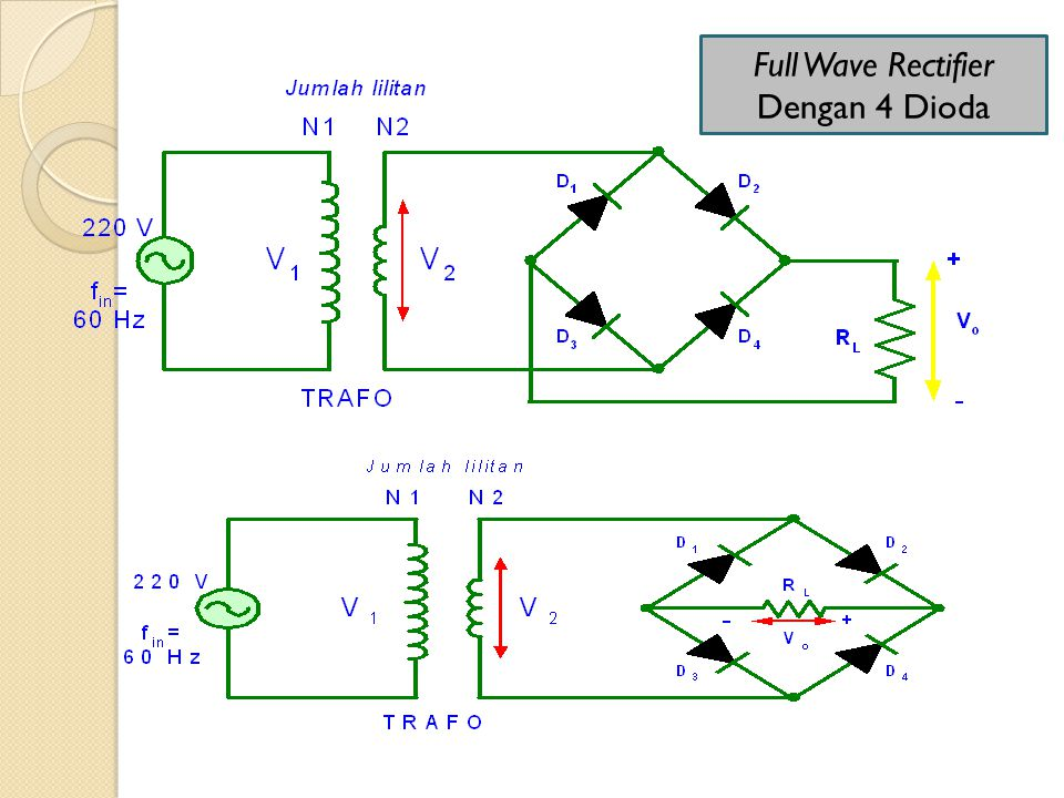 Full Wave Rectifier Dengan 4 Dioda