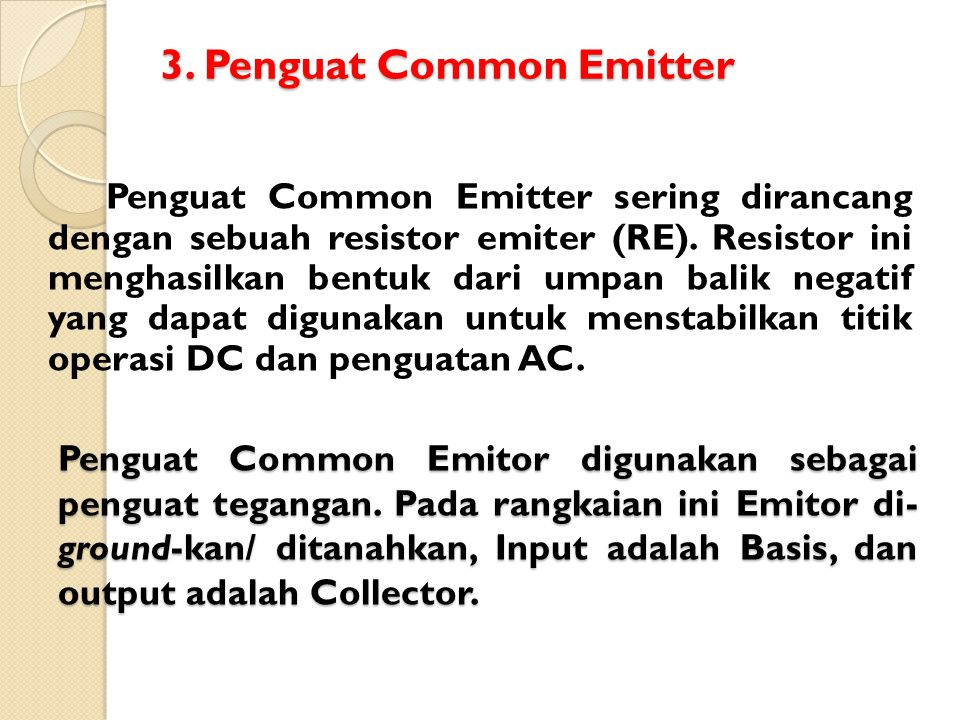 3. Penguat Common Emitter