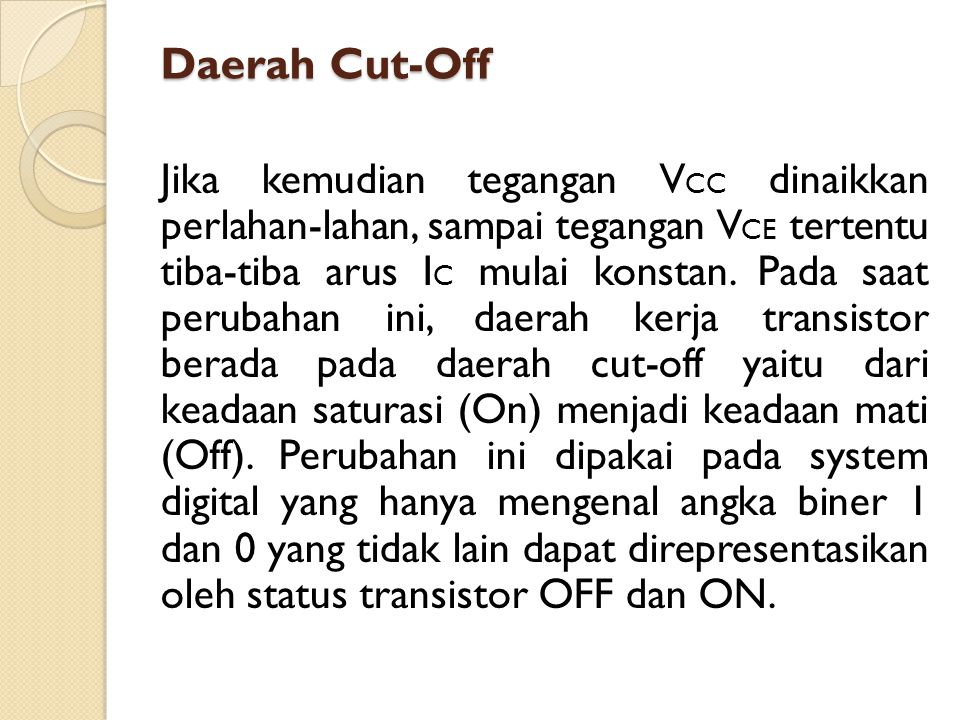 Daerah Cut-Off