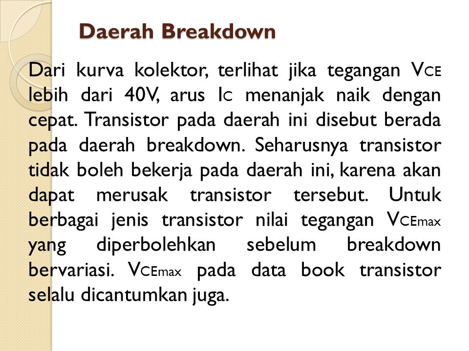 Daerah Breakdown