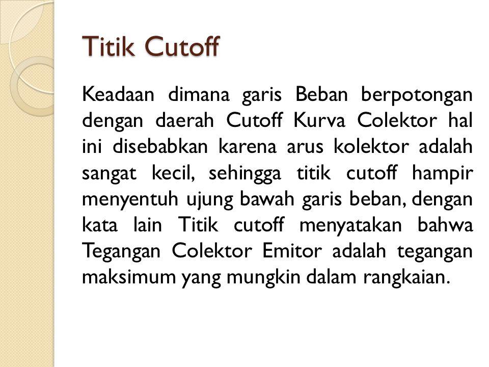 Titik Cutoff