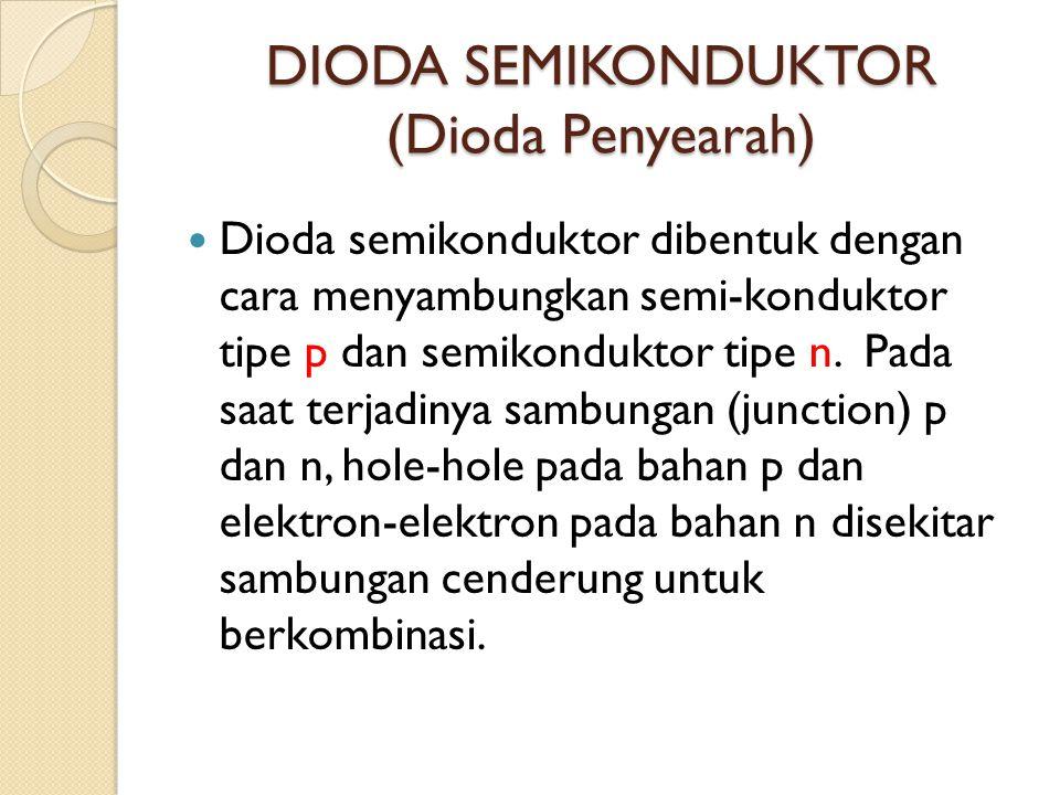 DIODA SEMIKONDUKTOR (Dioda Penyearah)