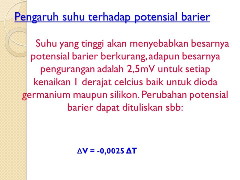 Pengaruh suhu terhadap potensial barier
