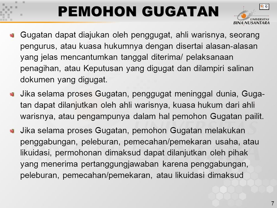 PEMOHON GUGATAN