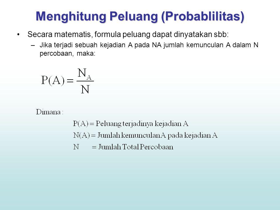 Menghitung Peluang (Probablilitas)