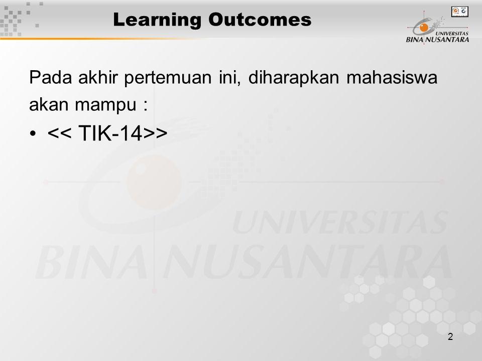 << TIK-14>>