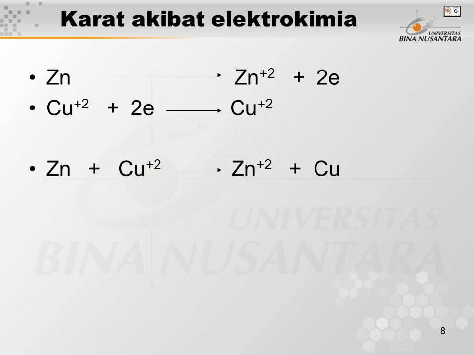 Karat akibat elektrokimia