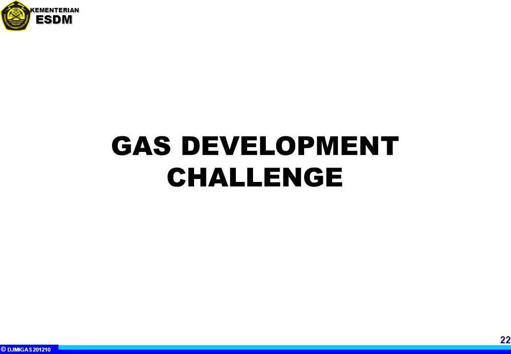 GAS DEVELOPMENT CHALLENGE