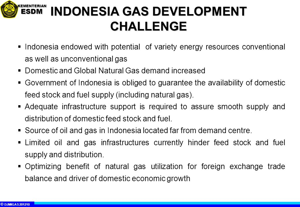 INDONESIA GAS DEVELOPMENT CHALLENGE