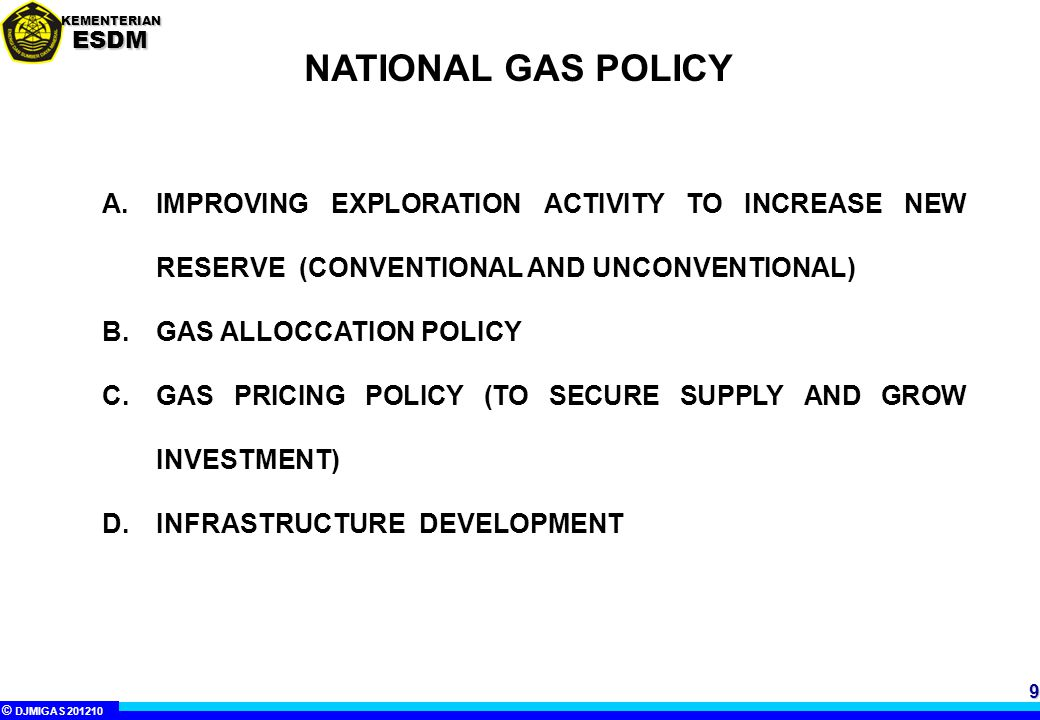 NATIONAL GAS POLICY IMPROVING EXPLORATION ACTIVITY TO INCREASE NEW RESERVE (CONVENTIONAL AND UNCONVENTIONAL)
