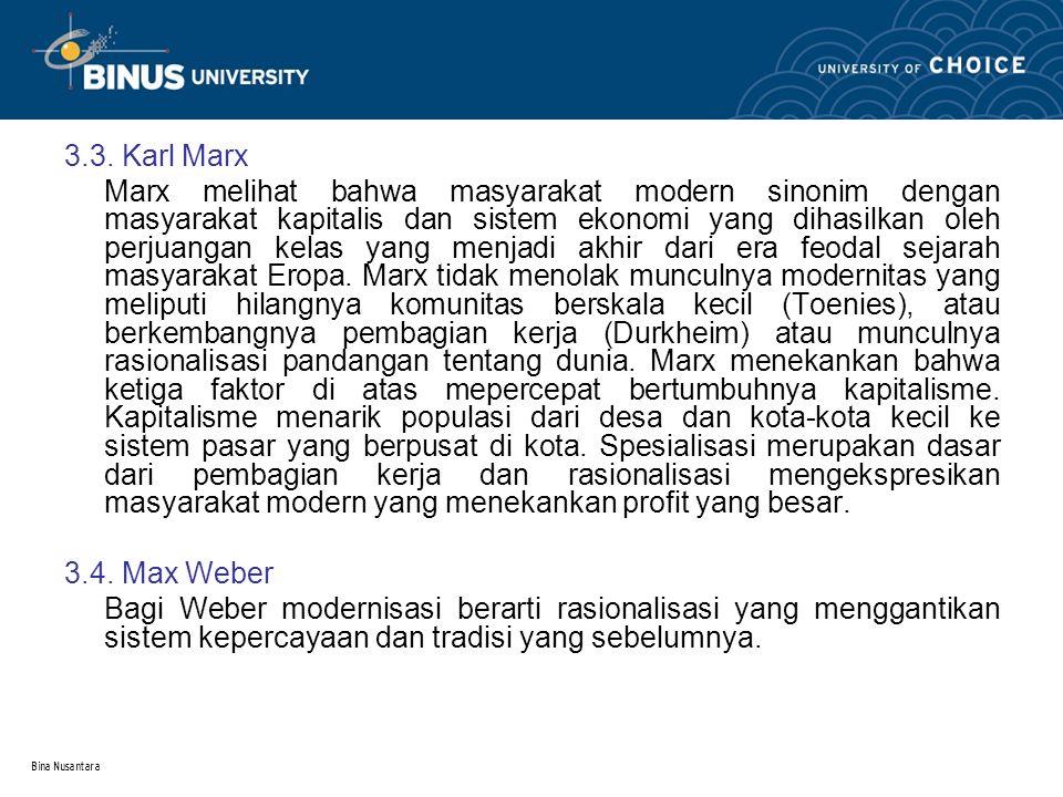 3.3. Karl Marx