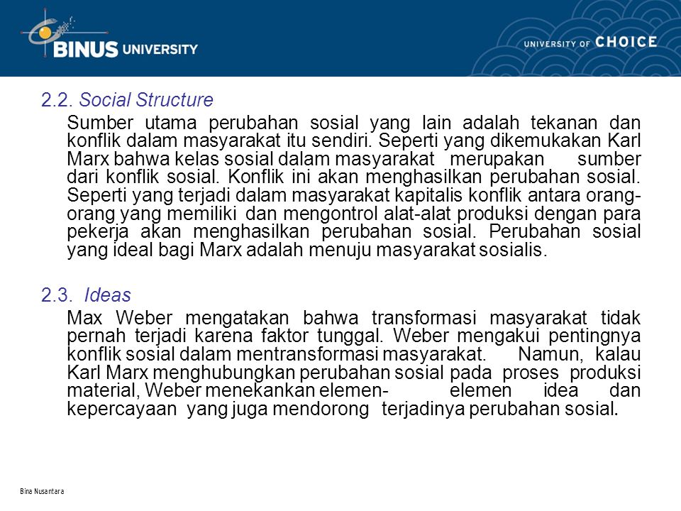 2.2. Social Structure