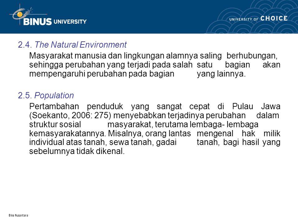 2.4. The Natural Environment