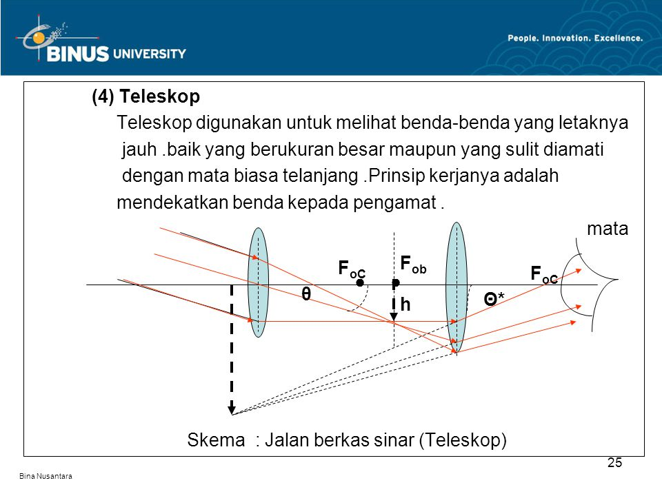 Teleskop digunakan untuk melihat benda-benda yang letaknya
