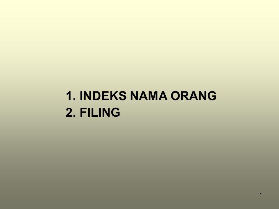 INDEKS NAMA ORANG FILING