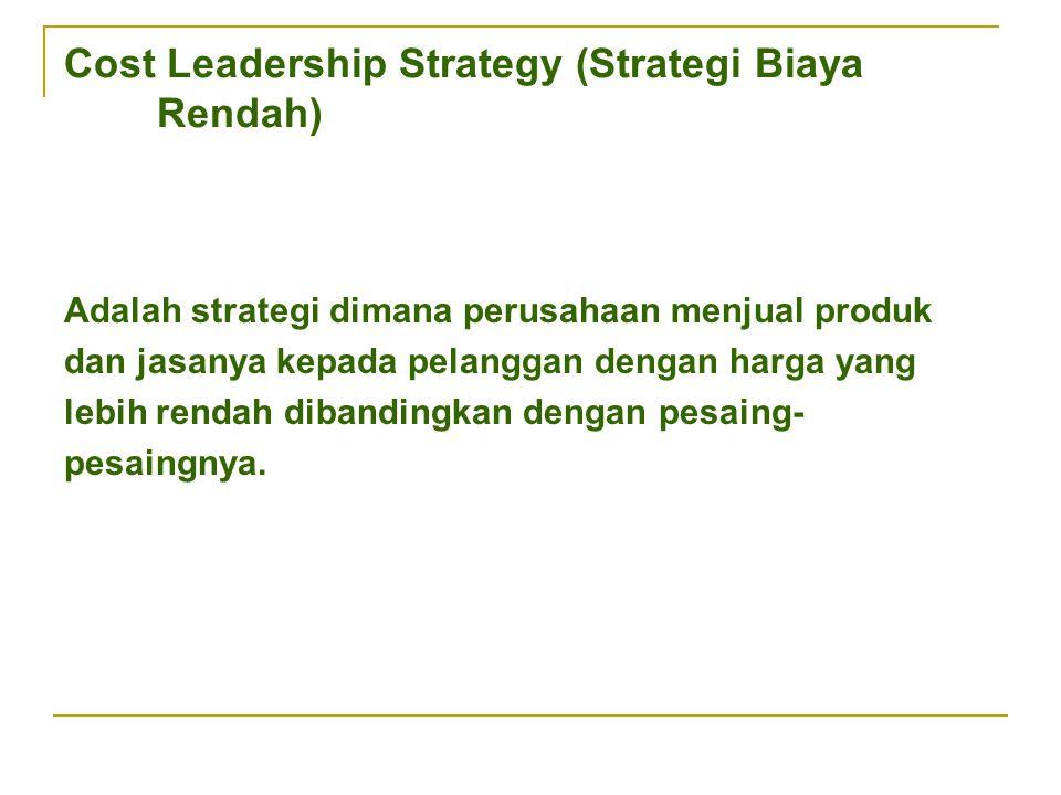 Cost Leadership Strategy (Strategi Biaya Rendah)