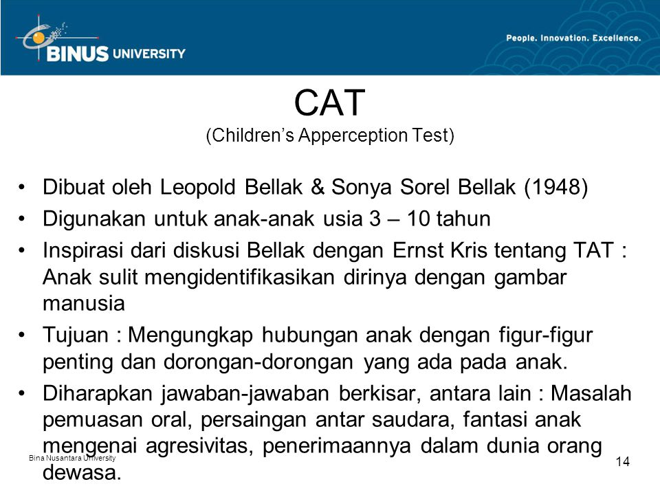 CAT (Children's Apperception Test)