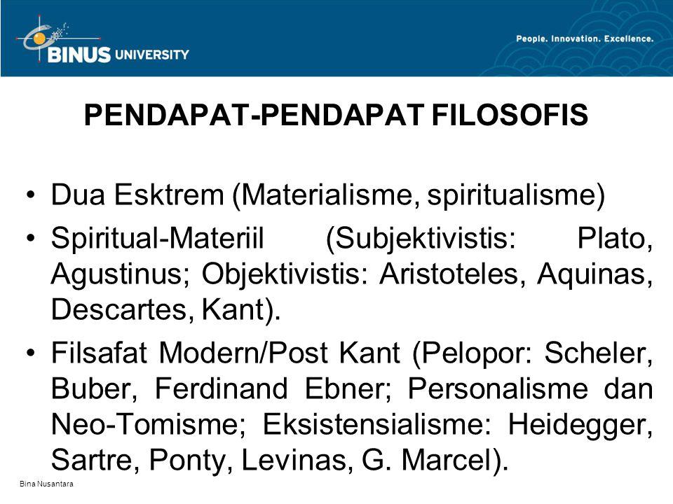 PENDAPAT-PENDAPAT FILOSOFIS