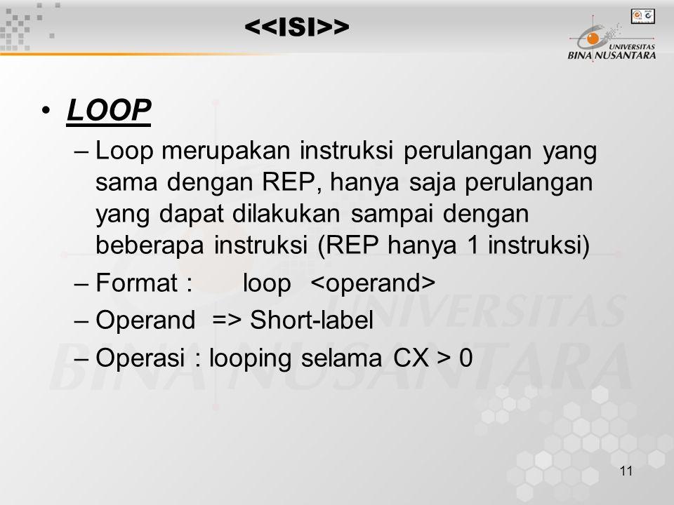 LOOP <<ISI>>
