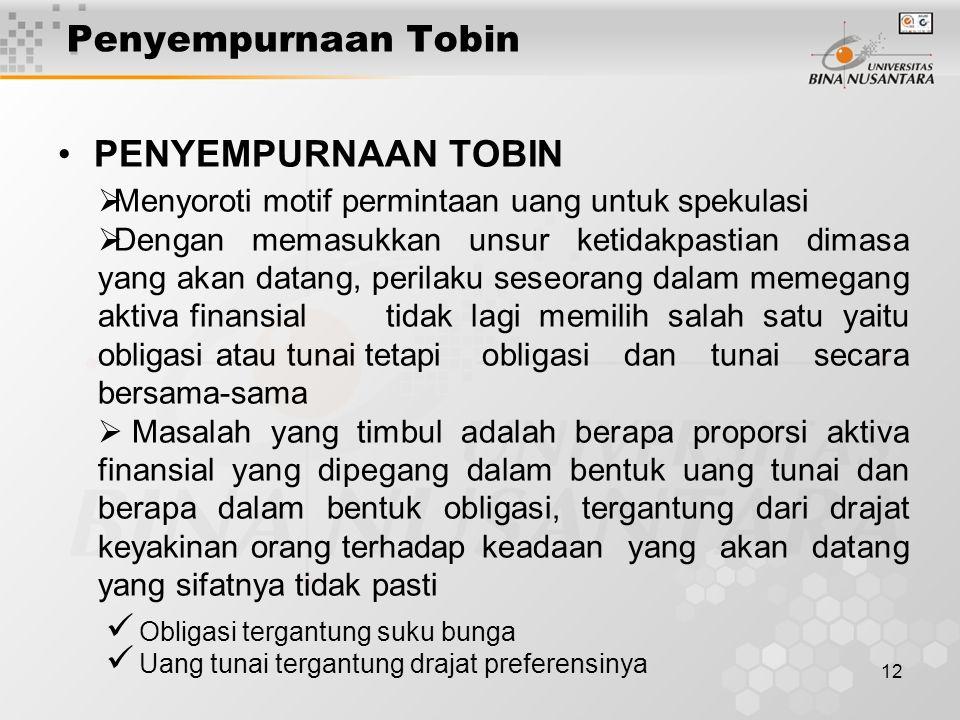 Penyempurnaan Tobin PENYEMPURNAAN TOBIN