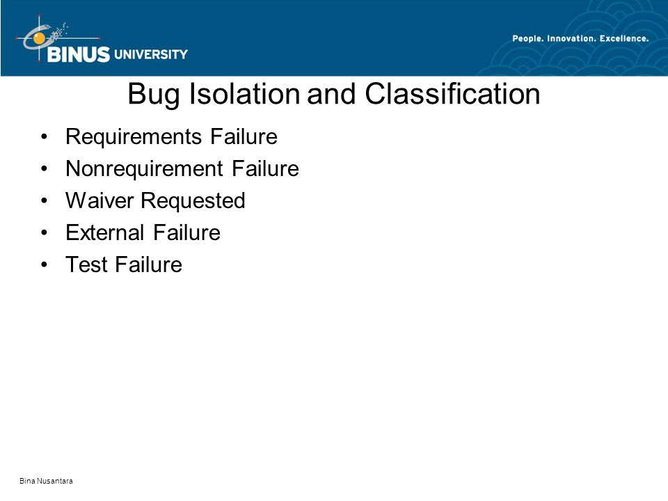 Bug Isolation and Classification