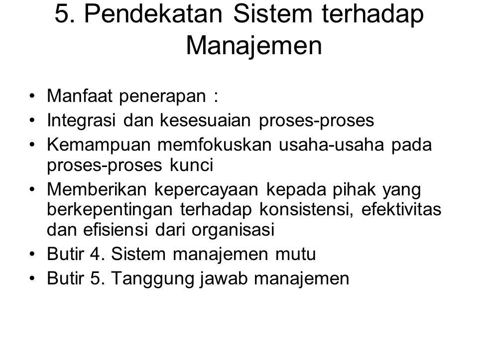 5. Pendekatan Sistem terhadap Manajemen