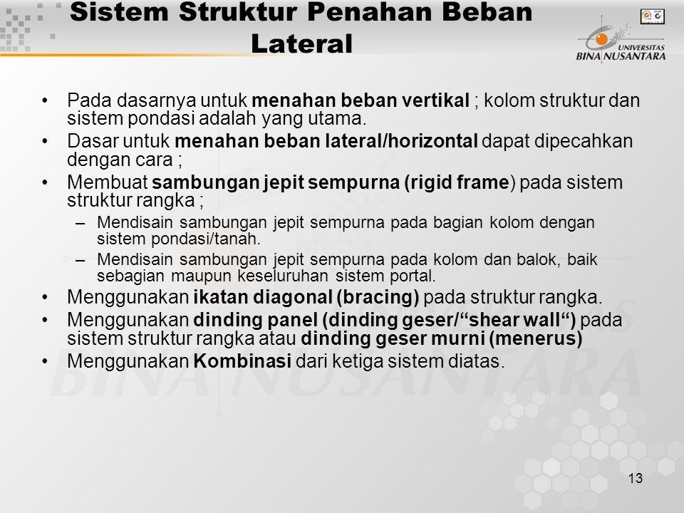Sistem Struktur Penahan Beban Lateral