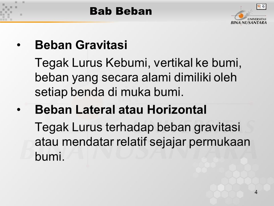 Beban Lateral atau Horizontal