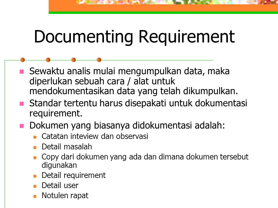 Documenting Requirement